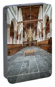 Interior Of The Oude Kerk In Amsterdam Portable Battery Charger