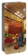 Interior Of Thien Hau Temple A Taoist Temple In Chinatown Of Los Angeles Portable Battery Charger