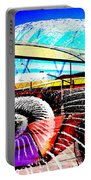Interstate 10- Cushing St Overpass- Rectangle Remix Portable Battery Charger
