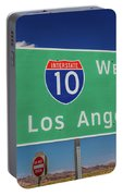Interstate 10 Highway Signs Portable Battery Charger