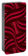 Intertwined Red Abstract Portable Battery Charger