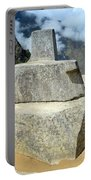 Inti Watana Stone Calendar At Machu Picchu Portable Battery Charger