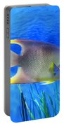 Into Blue - Tropical Fish By Sharon Cummings Portable Battery Charger by Sharon Cummings