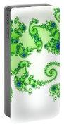 Intricate Green Blue Fractal Based On Julia Set Portable Battery Charger