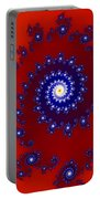 Intricate Red Blue Fractal Based On Julia Set Portable Battery Charger