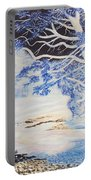 Inverted Lights At Trawscoed Aberystwyth Welsh Landscape Abstract Art Portable Battery Charger