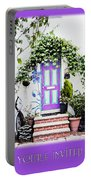 Invitation Greeting Card - Street Garden Portable Battery Charger