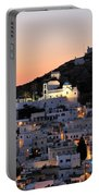 Ios Town During Sunset Portable Battery Charger