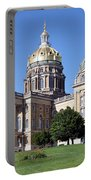 Iowa State Capitol Des Moines Portable Battery Charger