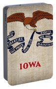 Iowa State Flag Portable Battery Charger