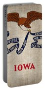 Iowa State Flag Portable Battery Charger by Pixel Chimp