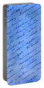 Iphone Case Blue Handwriging Portable Battery Charger