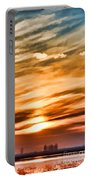 Iphone Sunset Digital Paint Portable Battery Charger