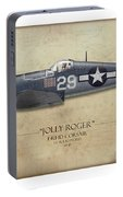 Ira Kepford F4u Corsair - Map Background Portable Battery Charger