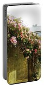 Ireland Floral Vine-topped Brick Wall Portable Battery Charger