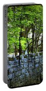 Ireland Stone Wall And Trees Portable Battery Charger