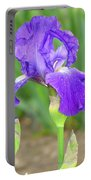 Iridescent Flower Portable Battery Charger
