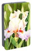 Iris Flower Dancing Petals Portable Battery Charger