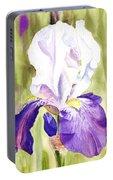 Iris Flower Purple Dance Portable Battery Charger