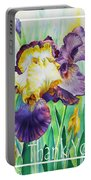 Iris Flower Thank You Portable Battery Charger