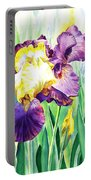 Iris Flowers Garden Portable Battery Charger