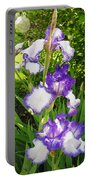 Iris Flowers Portable Battery Charger