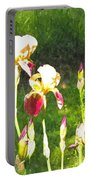 Iris In Watercolor Portable Battery Charger