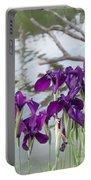 Iris Purple Lavender Portable Battery Charger