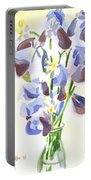 Irises Aglow Portable Battery Charger by Kip DeVore