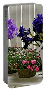 Irises And Impatiens Portable Battery Charger
