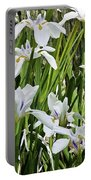 Irises Dancing In The Sun Painted Portable Battery Charger