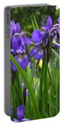 Irises In Spring Portable Battery Charger