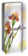 Irises In The Window Portable Battery Charger