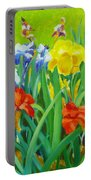 Irises On The West Lawn 1 Portable Battery Charger