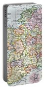 Irish Free State And Northern Ireland From Bacon S Excelsior Atlas Of The World Portable Battery Charger by English School