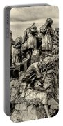 Irish Memorial In Sepia - Philadelphia Portable Battery Charger