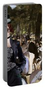 Irish Red And White Setter Art Canvas Print Portable Battery Charger