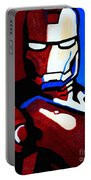 Iron Man 2 Portable Battery Charger by Barbara McMahon