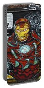 Iron Man Graffiti Portable Battery Charger