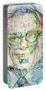 Isaac Asimov Portrait Portable Battery Charger