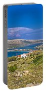 Island Of Pag Aerial Bay View Portable Battery Charger