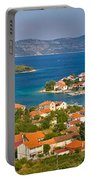 Island Of Veli Iz Panoramic View Portable Battery Charger