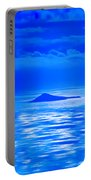 Island Of Yesterday Wide Crop Portable Battery Charger by Christi Kraft