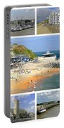 Isle Of Wight Collage - Plain Portable Battery Charger