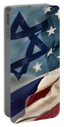 Israeli American Flags Portable Battery Charger by Ken Smith