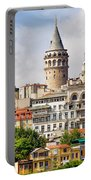 Istanbul Cityscape And Galata Tower Portable Battery Charger