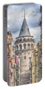Istanbul Galata Tower Portable Battery Charger by Antony McAulay