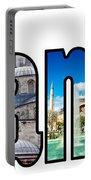 Istanbul Word Montage Portable Battery Charger