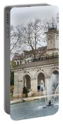 Italian Fountain In London Hyde Park Portable Battery Charger by Semmick Photo