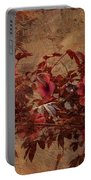 Italian Impasto Style Coral Floral Branch Portable Battery Charger